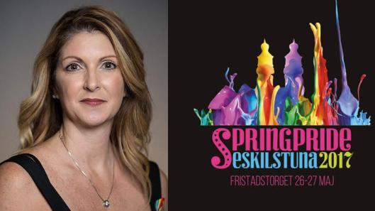 Barbara Poma till Springpride i Eskilstuna