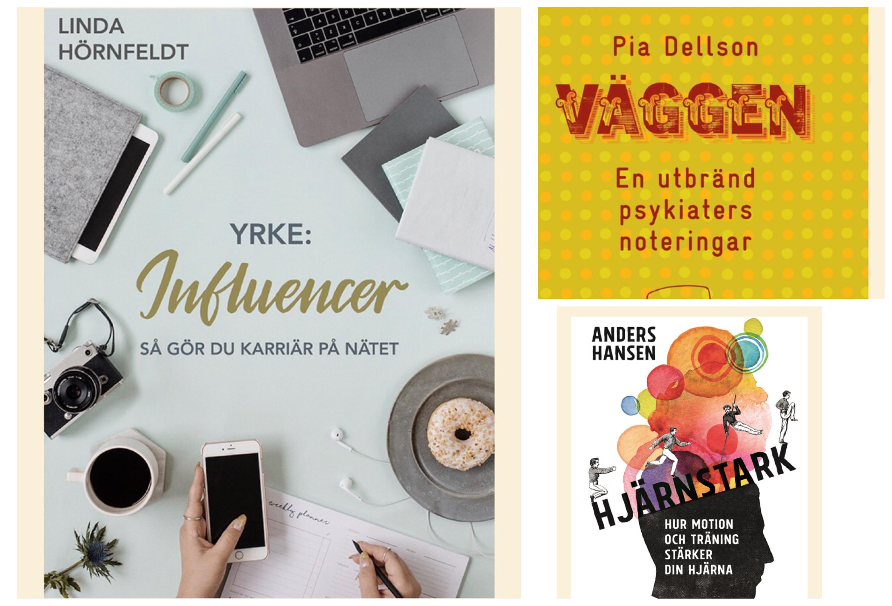 Böcker jag har läst: Yrke Influencer, Väggen En utbränd psykiaters noteringar, Hjärnstark